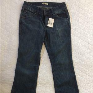 Cabi Midrise Jeans,  Embroidered Pockets Bootcut